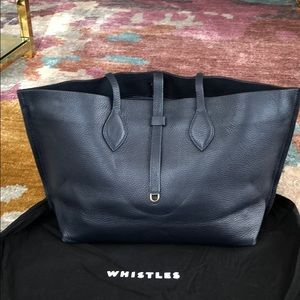 London Brand Whistles Navy Tote Bag-Good Condition